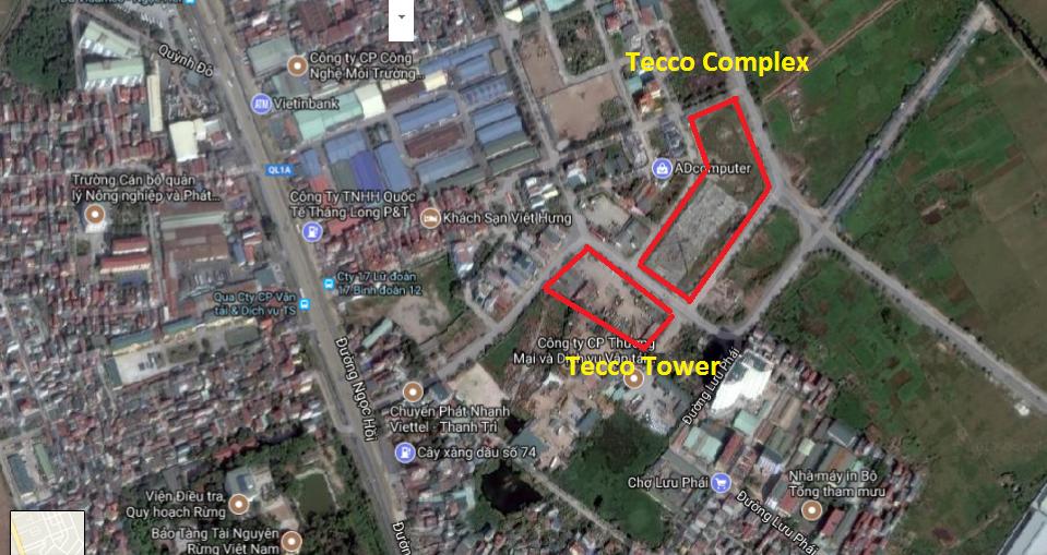vị trí chung cư Tecco Tower và tecco Complex Thanh Trì
