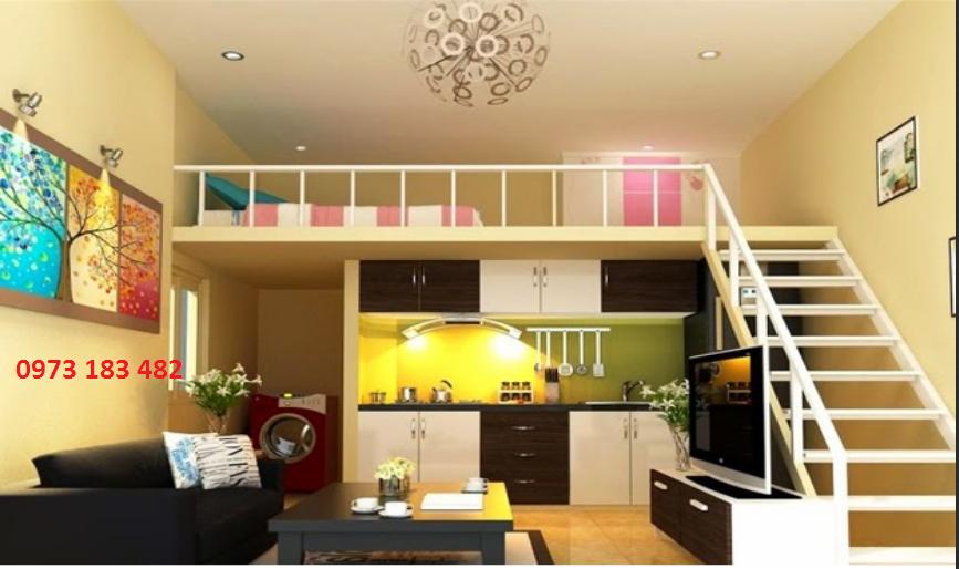 Thiết kế căn hộ 1 phòng ngủ Phố Nối House