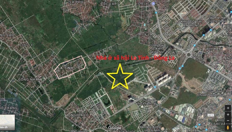 Vị trí nhà ở xã hội La Tinh-Đông La