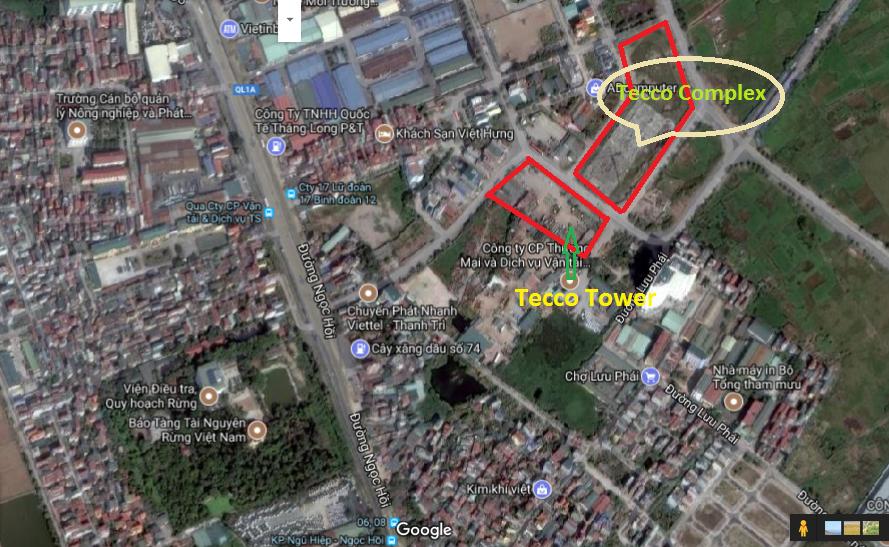 Vị trí dự án Tecco Tower Thanh Trì