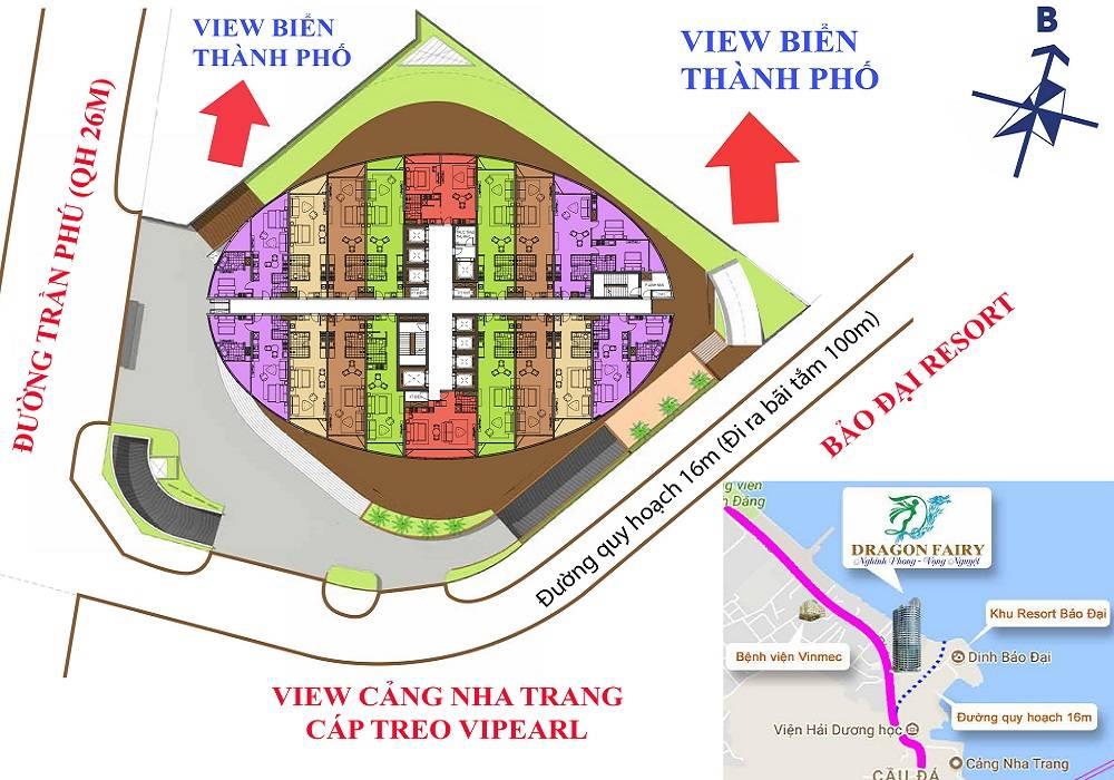 Mặt bằng dự án Condotel 89 Trần Phú Nha trang