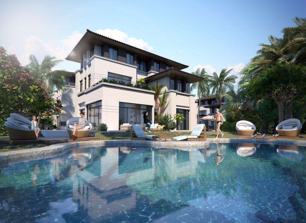 Biệt thự nghỉ dưỡng FLC Hạ Long với bể bơi