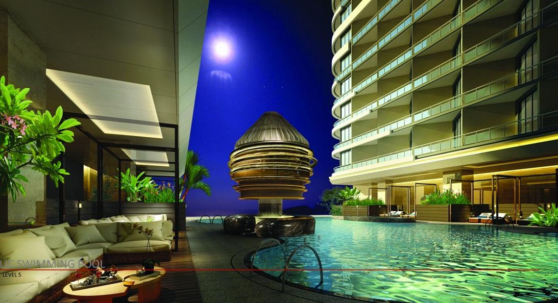 Bể bơi La Luna Resort rất lãng mạn