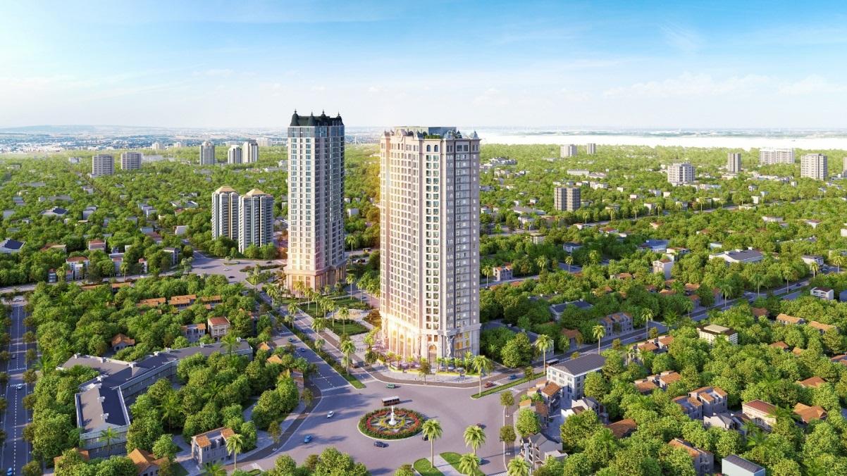 Phối cảnh dự án D'.el Dorado Tân Hoàng Minh Tây Hồ