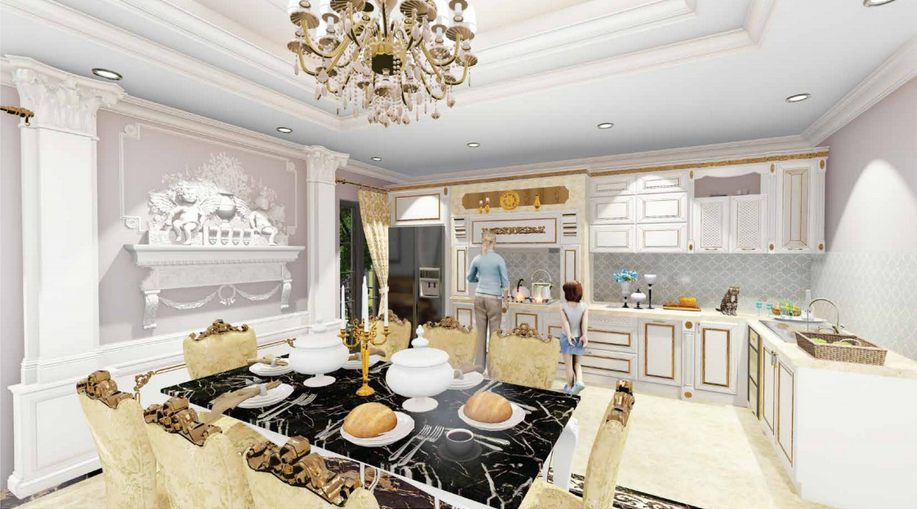 Phòng bếp dự án B4 Nam Trung Yên
