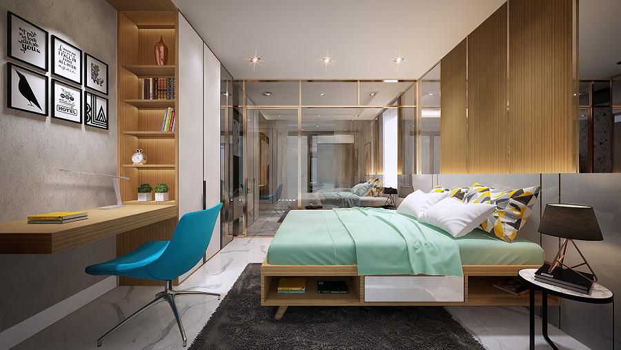 Phòng ngủ căn hộ D'.el Dorado Tân Hoàng Minh Phú Thượng