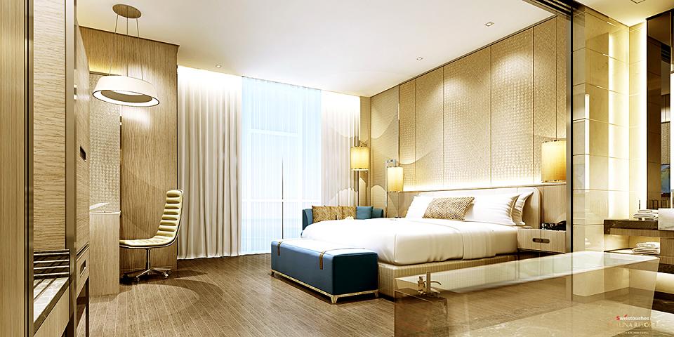 Phòng ngủ Condotel La Luna Resort