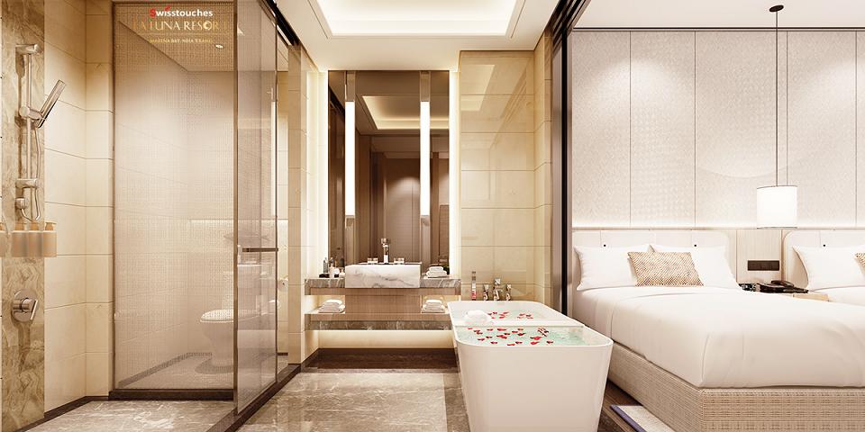 Phòng tắm Condotel La Luna Nha Trang