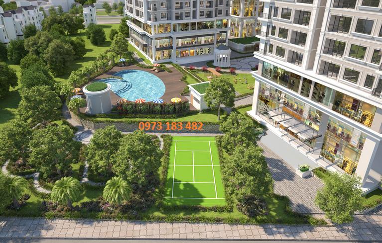 Sân Tenis dự án Iris Garden Trần Hữu Dực