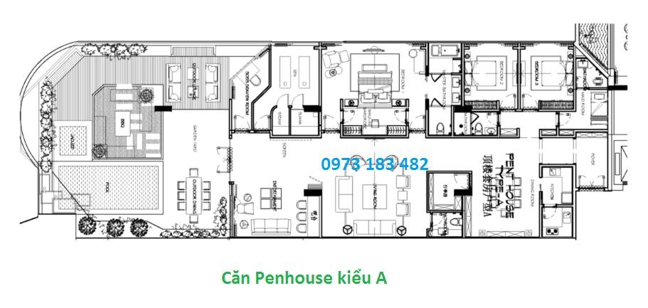 Thiết kế căn Penhouse La Luna Nha Trang
