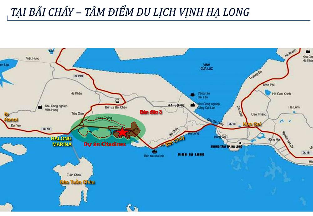 Vị trí trên bản đồ Citadines Hạ Long