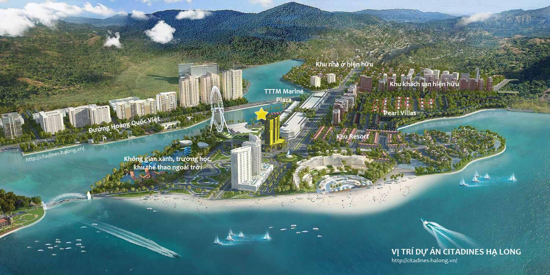 Phối cảnh vị trí dự án Citadines Hạ Long