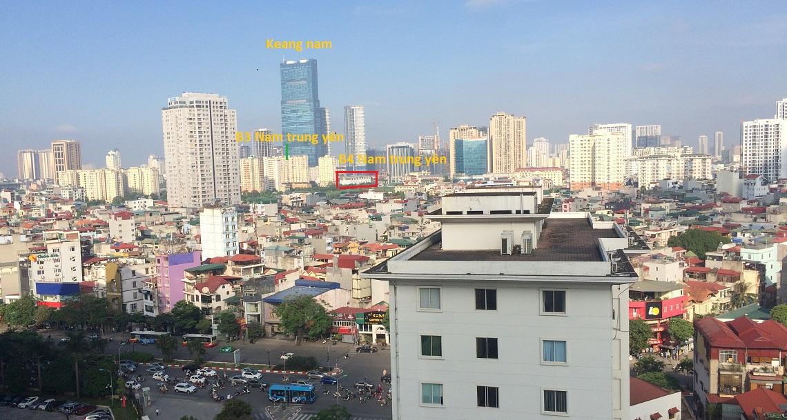 Vị trí dự án B4 Nam Trung Yên phố Nguyễn Chánh