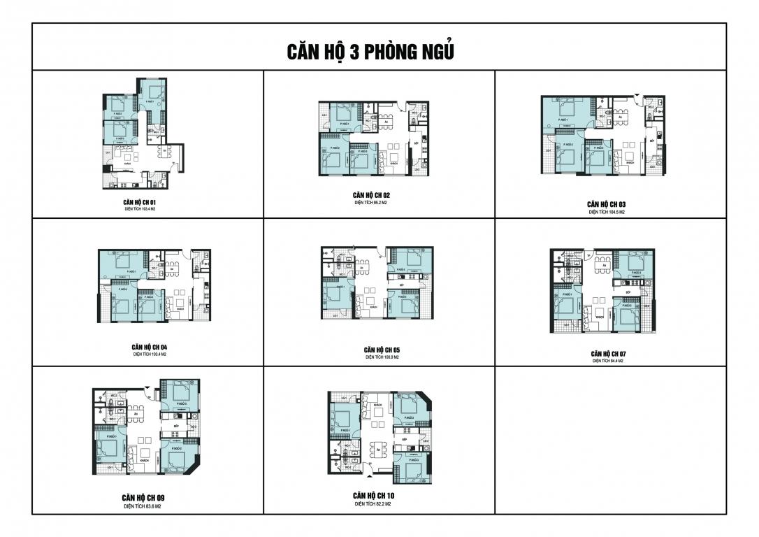 Thiết kế căn hộ 3 phòng ngủ chung cư B6 Giảng Võ