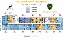 Mặt bằng tầng 13 - 24 chung cư B6 Giảng Võ