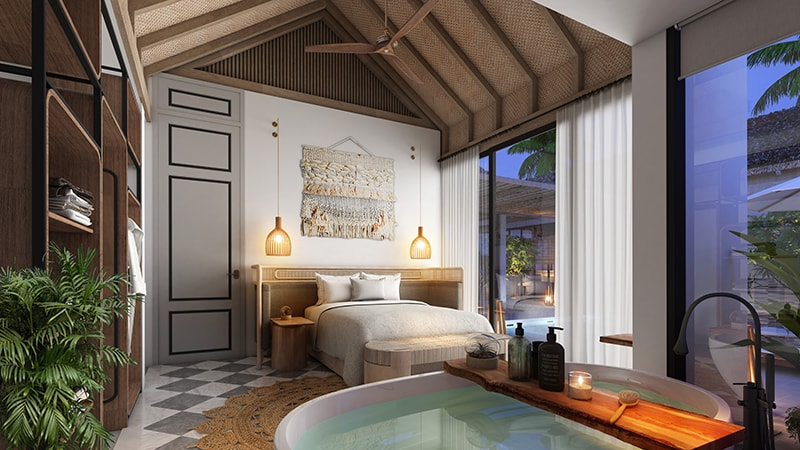 Phòng ngủ biệt thự mẫu D Premier Village Kem Beach