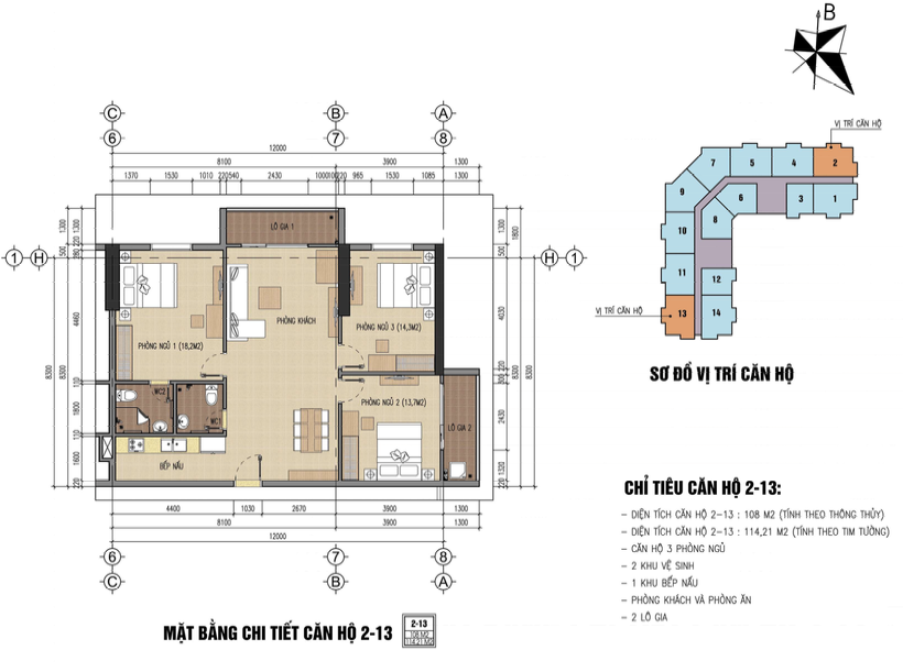 Thiết kế căn hộ b32 đại mỗ - a4