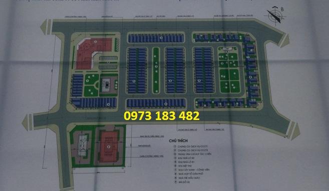 mặt bằng tổng thể dự án B32 Bộ Công An