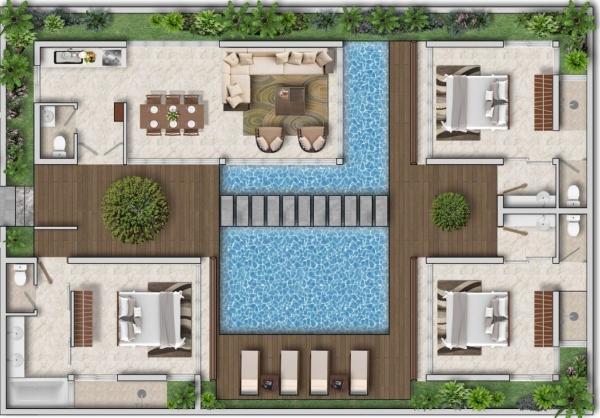 Thiết kế mẫu D biệt thự bãi Kem Sun Group