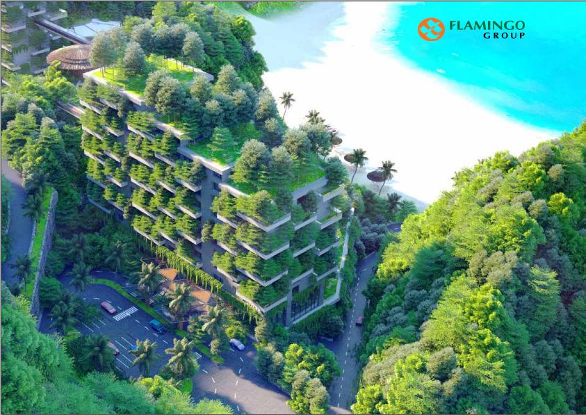 Biệt thự xanh trên cao Flamingo cát bà