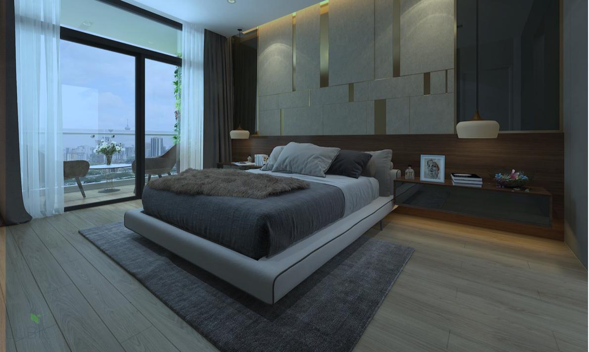 Phòng ngủ căn hộ Dreamland Duy Tân