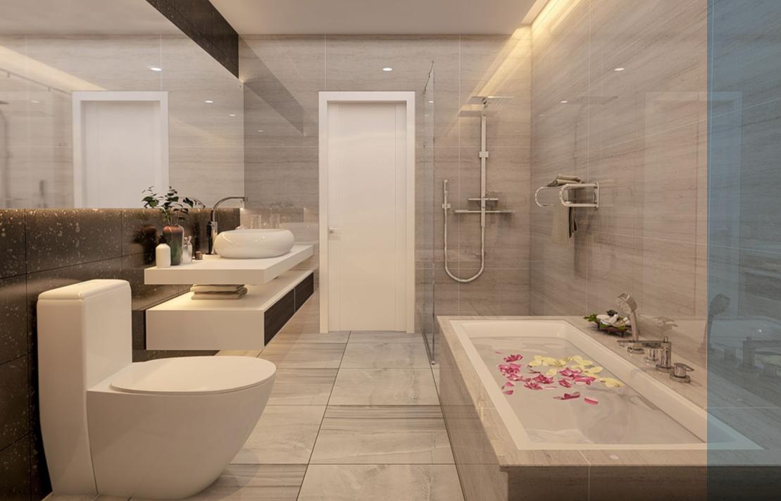 Phòng tắm chung cư 23 Duy Tân