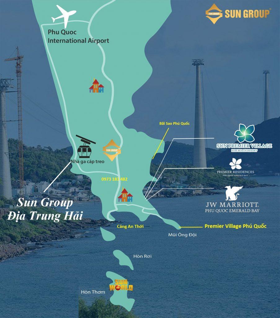 Vị trí dự án Sun Group địa trung hải