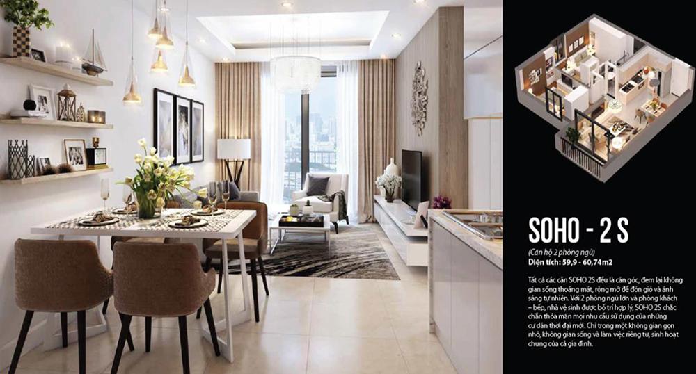 Thiết kế căn hộ Officetel Vinhomes Westpoint Phạm Hùng