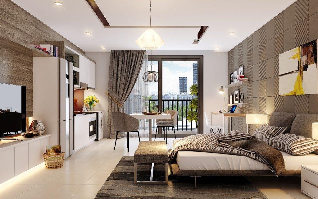 Thiết kế phòng ngủ căn hộ Vinhomes Westpoint Phạm Hùng