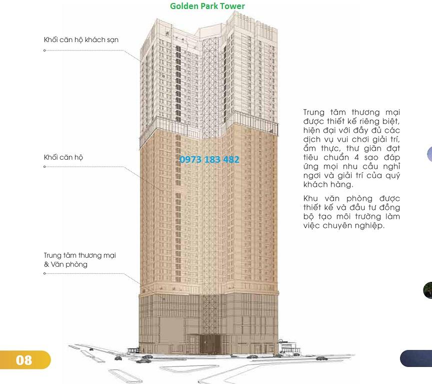 Thiết kế tòa Golden Park Tower