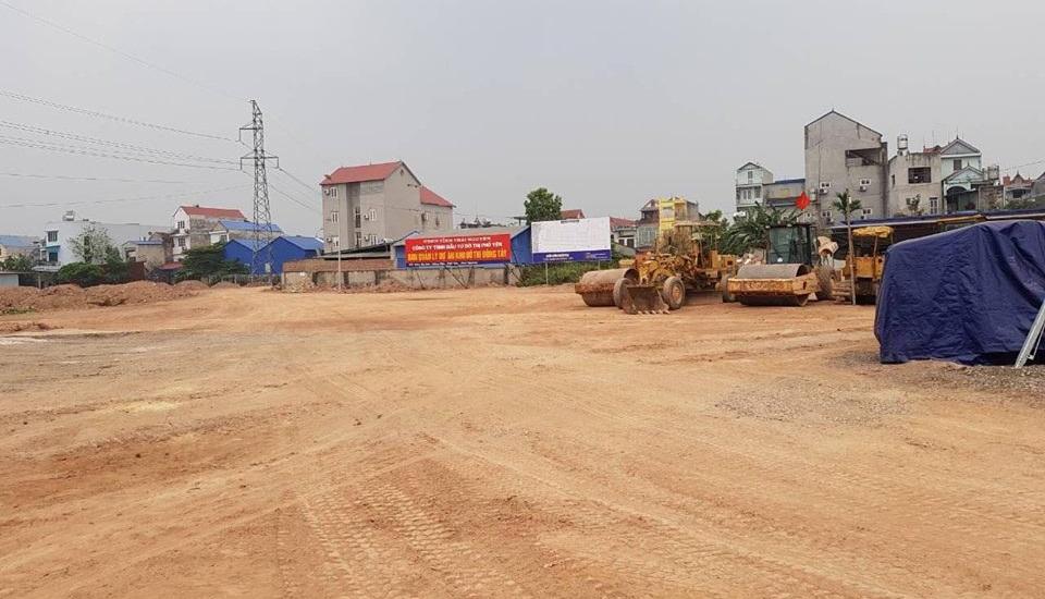 Tiến độ xây dựng dự án Đông Tây Phổ Yên