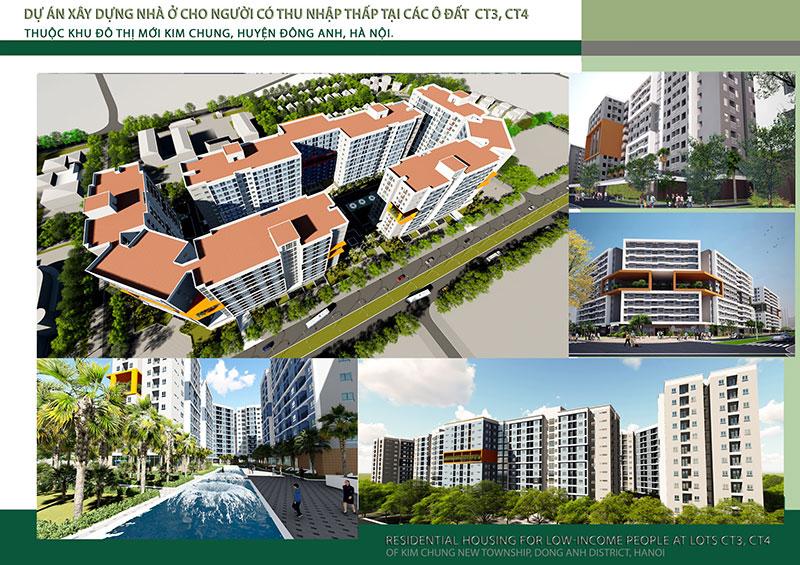 Hình ảnh dự án nhà ở xã hội Kim Chung Đông Anh