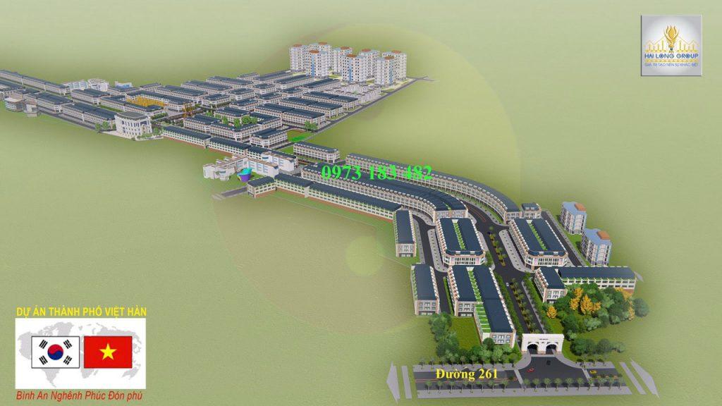 Tổng thể dự án Việt Hàn City Phổ Yên