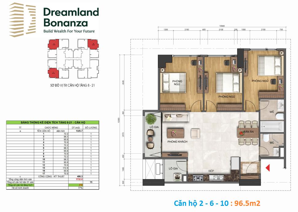 Thiết kế căn hộ 96m2 23 Duy Tân