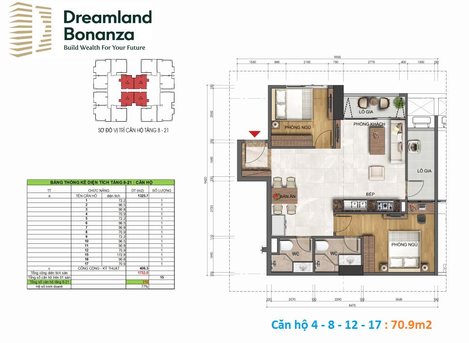 Thiết kế căn hộ chung cư Dreamland 23 Duy Tân