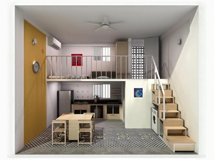 Thiết kế căn hộ 30m2