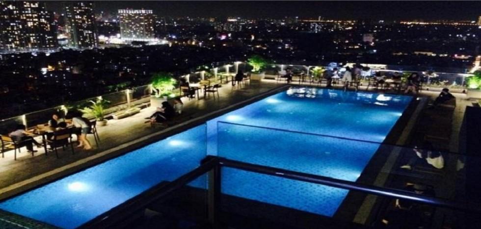 bể bơi chung cư thái nguyên tower