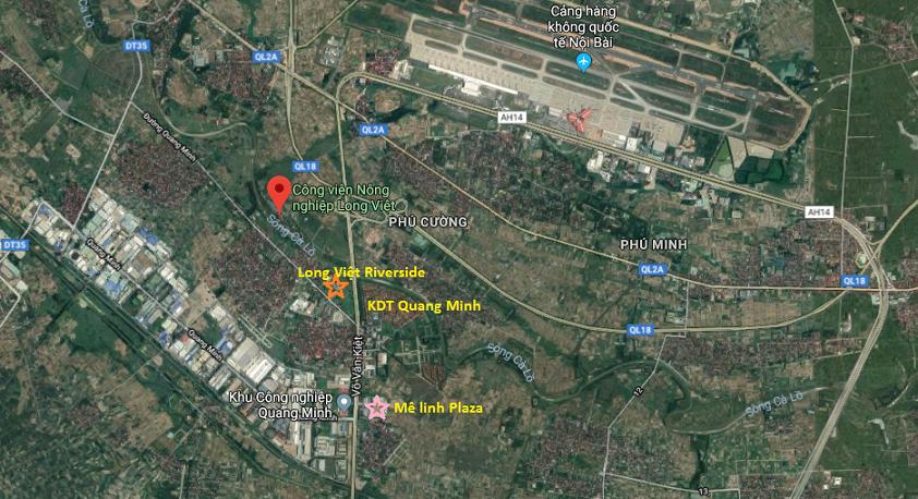 Vị trí dự án Long Việt Riverside