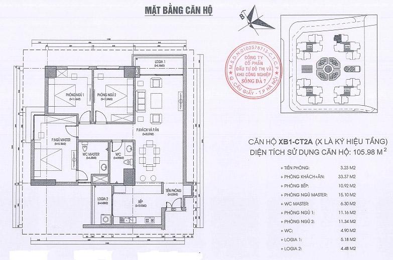 Thiết kế căn hộ 105m2 văn phòng quốc hội
