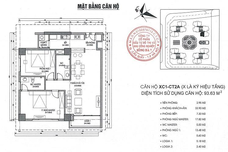 Thiết kế căn hộ 93.6 văn phòng quốc hội