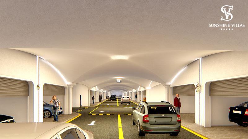 Hệ thống hầm gửi xe thông minh sunshine villa ciputra