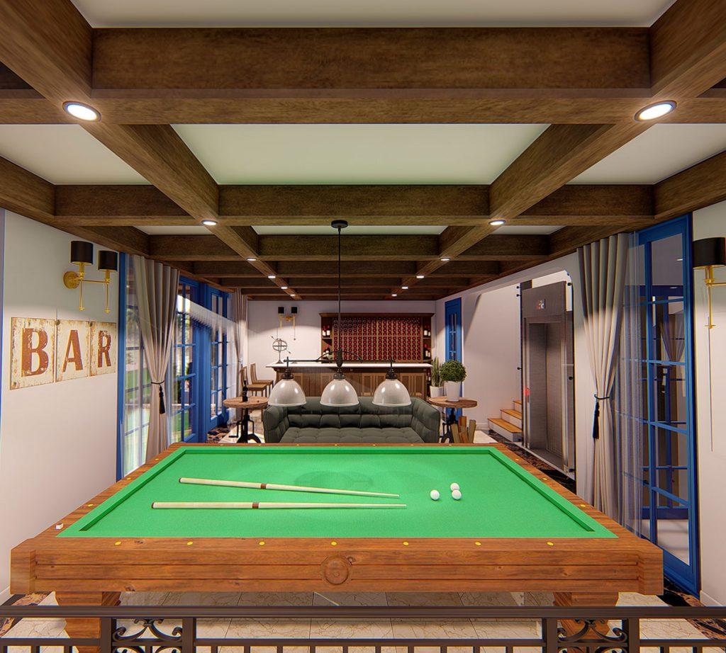 phòng giải trí biệt thự sunshine villa ciputra