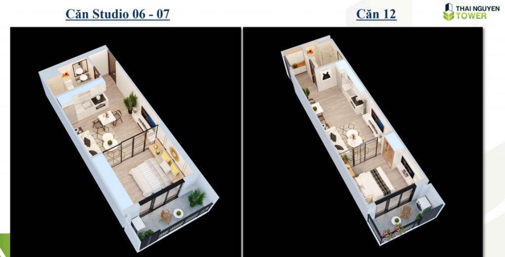 Thiết kế căn hộ thái nguyên Tower