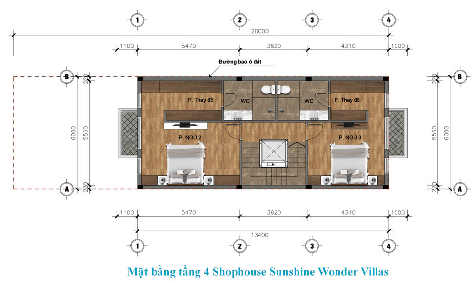 tầng 4 shophouse sunshine wonder villa