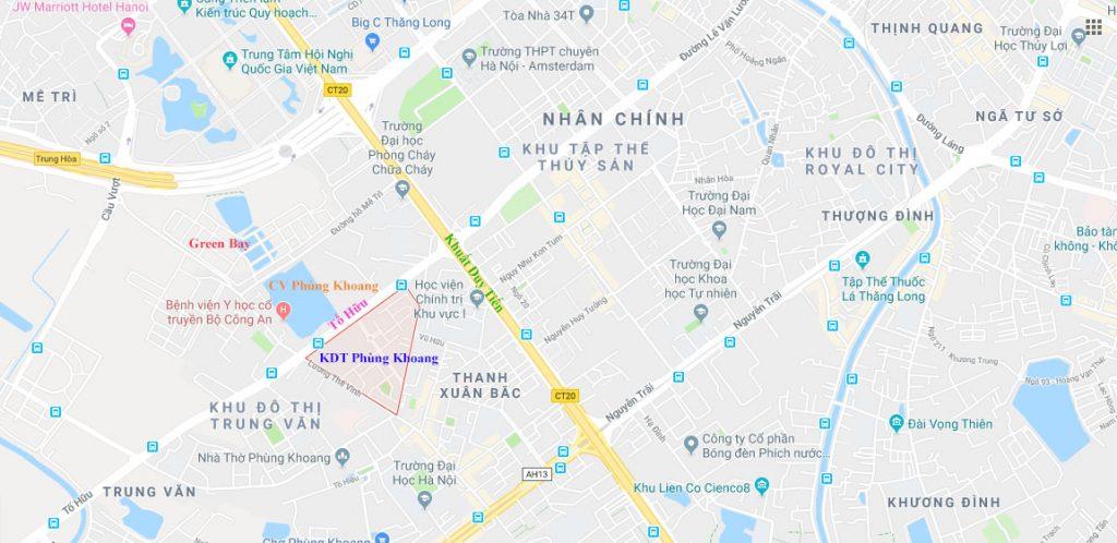 Vị trí khu đô thị Phùng Khoang Nam Cường