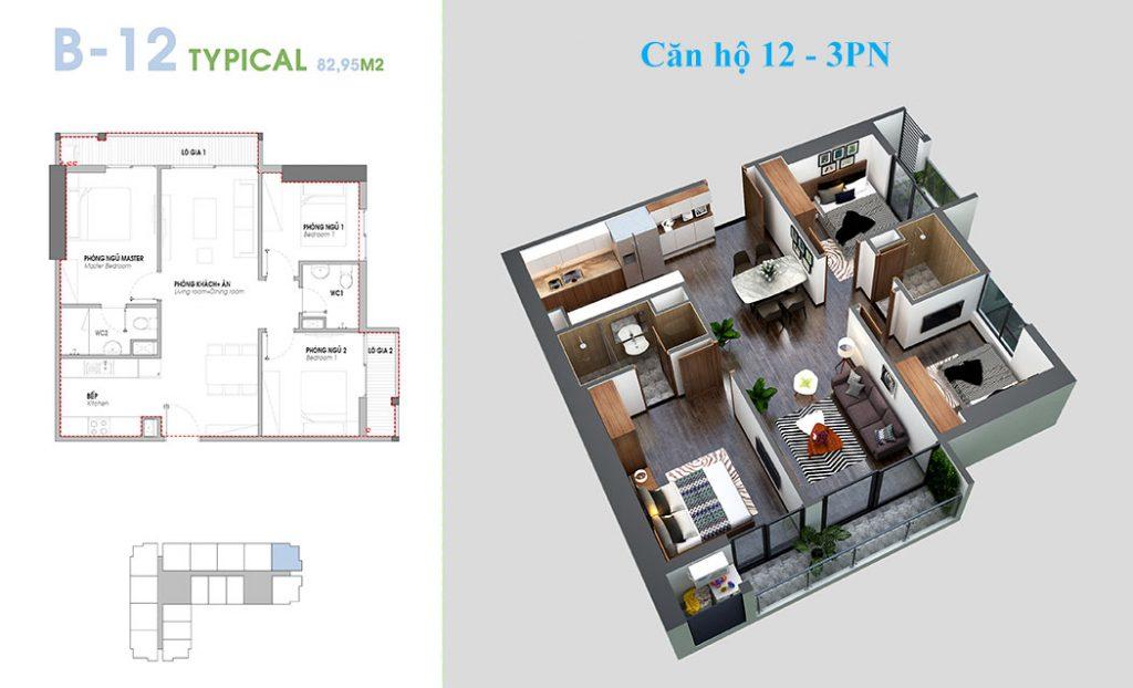 Thiết kế căn hộ 12 An Bình Plaza