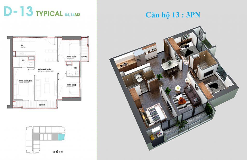 Thiết kế căn hộ 13 An Bình Plaza