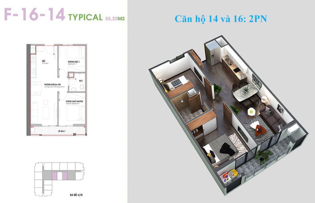 Thiết kế căn hộ 14 và 16 An Bình Plaza