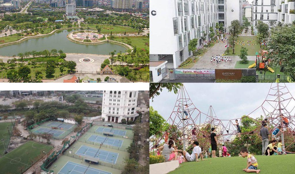 Tiện ích khu đô thị dịch vọng