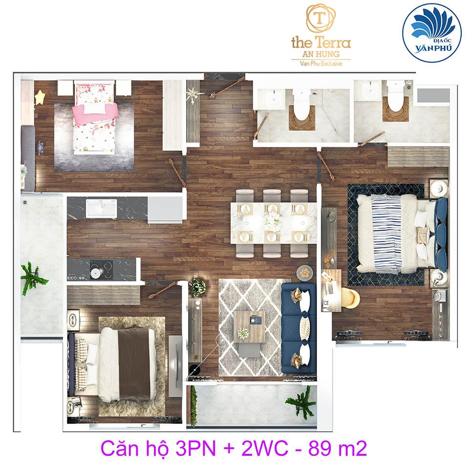 Thiết kế căn hộ số 2 - 4